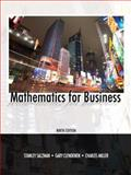 Mathematics for Business, Salzman, Stanley A. and Miller, Charles D., 0135063949