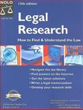 Legal Research, Stephen Elias and Susan Levinkind, 1413303951