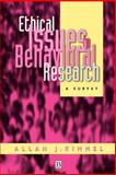 Ethical Issues in Behavioral Research 9781557863959