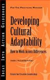 Developing Cultural Adaptability, Jennifer Deal and Don Prince, 1932973966