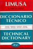 Garcia Diaz English-Spanish Technical Dictionary, Noriega Editores, 9681853970