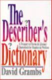 The Describer's Dictionary, Grambs, David, 0393033996