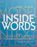 Inside Words, Allen, Janet, 1571103996
