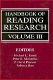 Handbook of Reading Research 9780805823998