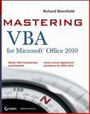 Mastering VBA for Office 2010, Guy Hart-Davis and Richard Mansfield, 0470634006