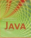Programming and Problem Solving with Java, Dale, Nell B. and Weems, Chip, 0763734020