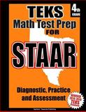 TEKS 4th Grade Math Test Prep for STAAR, Teachers Treasures, 1500874035