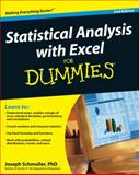 Statistical Analysis with Excel for Dummies, Joseph Schmuller and Ph.D., Joseph Schmuller, 0470454067