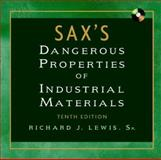 Sax's Dangerous Properties of Industrial Materials, Lewis, Richard J., 0471354066