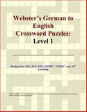 Webster's German to English Crossword Puzzles, Icon Reference Staff, 0497254077