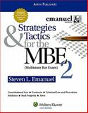 Strategies and Tactics for the MBE Volume Ii, Emanuel, Steven, 0735594082