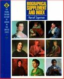 Biographical Supplement and Index, Harriet Sigerman, 019512409X