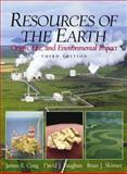 Resources of the Earth : Origin, Use, and Environmental Impact, Craig, James R. and Vaughan, David, 0130834106