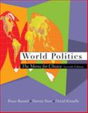 World Politics : The Menu for Choice, Russett, Bruce and Starr, Harvey, 0534604102