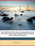 Die Metrik der Sog Caedmonschen Dichtungen, Friedrich Graz, 1148604103