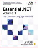 Essential . Net Vol. 1 : The Common Language Runtime, Box, Don and Pattison, Ted, 0201734117