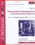 Organisational Management and Information Systems : For May and November 2005 Exams, Perry, Bob, 0750664142