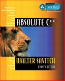 Absolute C++, Visual C++. NET Edition (CodeMate Enhanced), Savitch, Walter, 0321224167