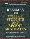 Resumes for College Students and Recent Graduates 9780844244181
