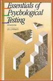 Essentials of Psychological Testing, Cronbach, Lee J., 0060414189