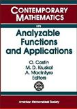 Analyzable Functions and Applications, O. Costin, Martin D. Kruskal, A. MacIntyre, 0821834193