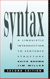 Syntax, Keith Brown and Jim Miller, 0415084210