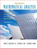 Introductory Mathematical Analysis for Business, Economics and the Life and Social Sciences, Haeussler, Ernest F. and Paul, Richard S., 0132404222