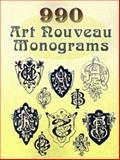 990 Art Nouveau Monograms, Dover, 0486454231