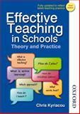 Effective Teaching in Schools, Chris Kyriacou, 1408504235