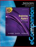 Beginning Algebra, Aufmann, Richard N. and Lockwood, Joanne, 0840054246