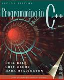 Programming in C++, Dale, Nell and Weems, Chip, 0763714240