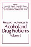 Research Advances in Alcohol and Drug Problems, , 0306424266