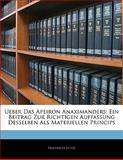 Ueber das Apeiron Anaximanders, Friedrich Lütze, 1141424266