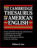 The Cambridge Thesaurus of American English, William D. Lutz, 052141427X