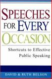 Speeches for Every Occasion, David Belson and Ruth Belson, 0806524286