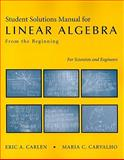 Linear Algebra Solution's Manual, Carlen, Eric, 1429204281