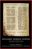 Williams' Hebrew Syntax, Williams, Ronald J. and Beckman, John C., 0802094295