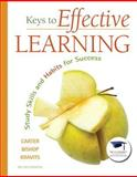 Keys to Effective Learning : Study Skills and Habits for Success Plus NEW MyStudentSuccessLab -- Access Card Package, Carter, Carol J. and Bishop, Joyce, 0134044290