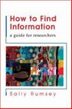 How to Find Information, Rumsey, Sally, 0335214290