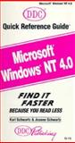 Windows NT, Version 4, Quick Reference, Karl Schwartz, 1562434292