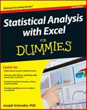 Statistical Analysis with Excel for Dummies, Joseph Schmuller, 1118464311