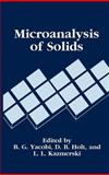 Microanalysis of Solids, , 030644433X