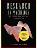 Research in Psychology : Methods and Design, Update, Goodwin, C. James, 0471454338