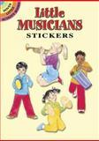 Little Musicians Stickers, Sylvia Walker, 0486444333
