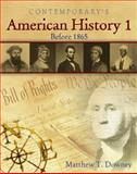 American History 1 (Before 1865) - Softcover Student Text Only, Downey, Matthew T., 0077044355