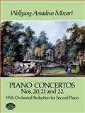 Piano Concerto Nos. 20, 21 and 22, Wolfgang Amadeus Mozart, 0486284352