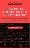 Remarks on the Philosophy of Psychology, Wittgenstein, Ludwig Josef Johann, 0226904369