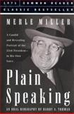 Plain Speaking, Miller, Merle, 1579124372