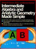 Intermediate Algebra and Analytic Geometry Made Simple, William R. Gondin and Bernard Sohmer, 0385004370