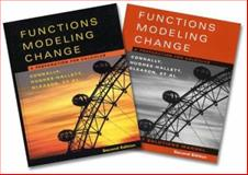 Functions Modeling Change, Textbook and Student Solutions : A Preparation for Calculus, Connally, Eric and Hughes-Hallett, Deborah, 0471654388
